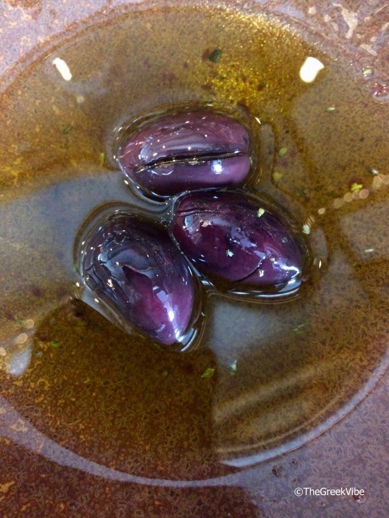 Kalamata olives in extra virgin olive oil